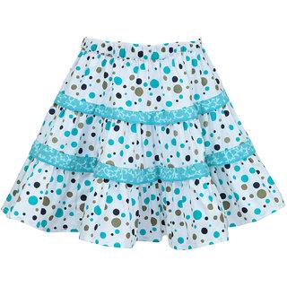 Nino Bambino Organic Cotton Organic Cotton Girls Polka Dot Ruffeled Panel Skirt