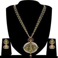 Zaveri Pearls Temple Necklace Set-ZPFK4126