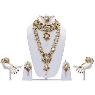 White antique Patwa 119 Bridal Set