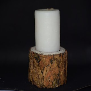 Bark Piller Candle Stand