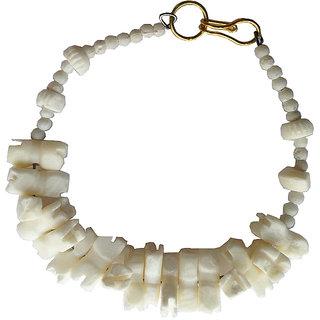 Handmade Pure White Marble Bracelet