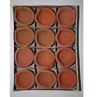 Traditional Mud Diyas ( Pack of 12 )