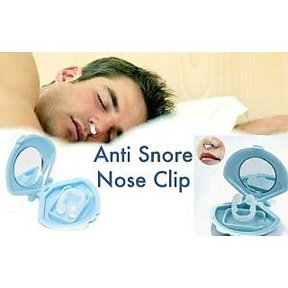 Silicone Anti snore stopper device nose clip sleeping aid 1 piece with case.