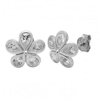 Allure Jewellery Flower Shape 925 Sterling Silver with Cubic Zircona(CZ) Women S