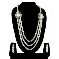 Zaveri Pearls Grand Moti Rani Haar Necklace Set-ZPFK4137