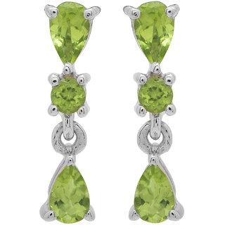 Allure Jewellery Star Shape 925 Sterling Silver with Lemon Quartz Women Earrings