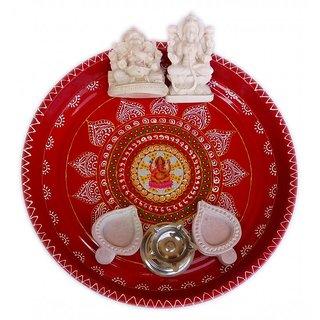 Handmade Diwali Special Pooja Thali Set