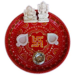 Handmade Diwali Special Swastika Pooja Thali Set