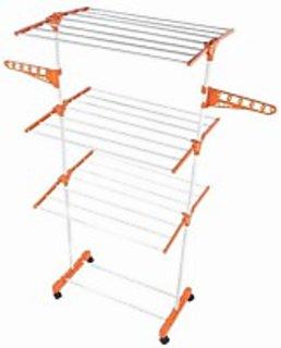 ASP Healthcare 3Tier Foldbale Cloth Drying Rack Stand 4 Wheels Wholesale Price