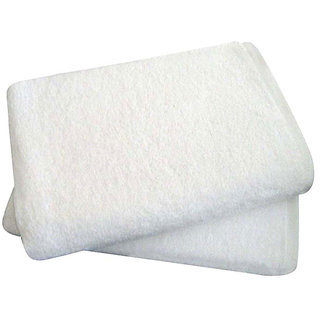 Attractivehomes beautiful plain cotton bath towel set of 2