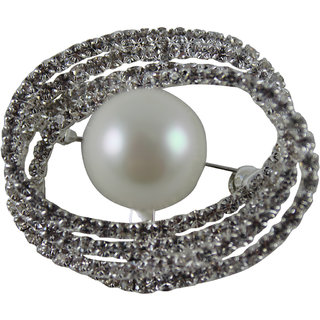 GI- Fashionable with Pearl for Party  Casual Sari Brooch