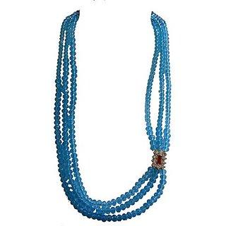 Traditional Crystal Chain with Stone Mugappu