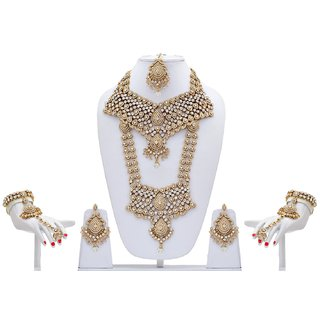 White antique Patwa 1392 Bridal Set