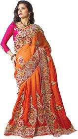 Aagaman Hue of Orange Beautiful Embroidered Saree 2217 TSPL2217