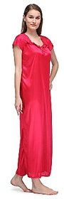 Womens Satin Halter Neck Nighty Assorted Colors