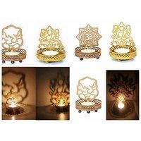 Diya - Unique Arts Set Of 2 Shadow Diya Tea Light Candle