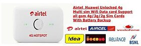 New Airtel 4g Huawei Multisim Wifi Data Card With Battery Backup