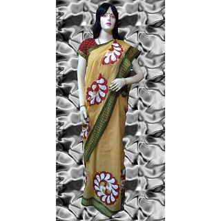 Stop To Shop Purple Brasso Printed Saree Without Blouse