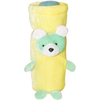 Wonderkids Teddy Bear Baby Bottle Cover, Yellow