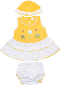 BelleGirl BabySuit With Round Cap Yellow