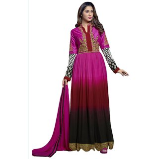 Triveni Dashing Multi Colored Embroidered Faux Georgette Anarkali