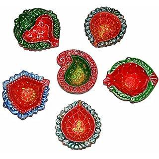 Decorative Terracotta Handmade Diwali Terracotta Table Diya Set