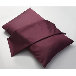 Magenta Solid Pillow Cover Set Of 2Pcs (PC40009)