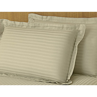 Toupe Sateen Stripe Pillow Cover 2 Pc Set (STCLD1CM1032)
