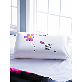 White Loves Me Loves Me Not Pillow Talk Bedlinen (STPPLWTLK1008)
