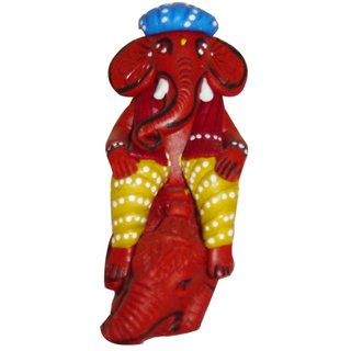 Nayahub Multicolour Toduct]=Nayahub Multicolour Terracotta Ganesha on Mouse Idol