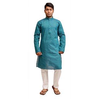 Porwal Blue Color Cotton Kurta Pyjama Porwal925 KD/29