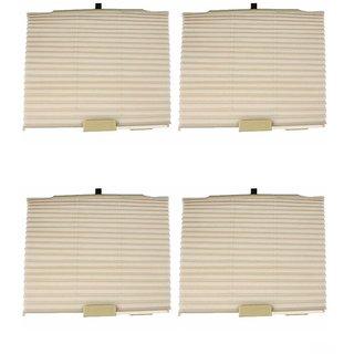 Takecare Car Auto Folding Sunshades Curtains Beige For Honda City I Vtec Sv