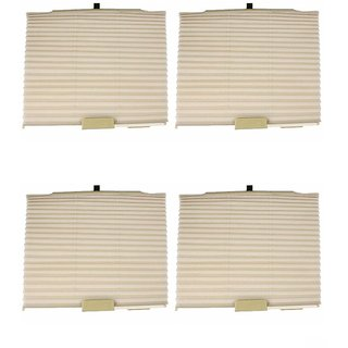 Takecare Car Auto Folding Sunshades Curtains Beige For Maruti Celerio
