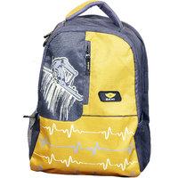 Sami Yellow  Grey Polyester School Bag For Boys