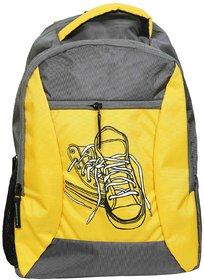 Sami Yellow  Grey Polyester School Bag