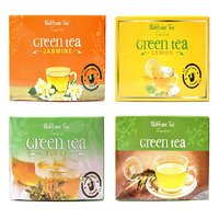 Udyan Assorted Green Tea Bags (25 x 4) 100 Bags - Plain, Tulsi, Lemon  Jasmine