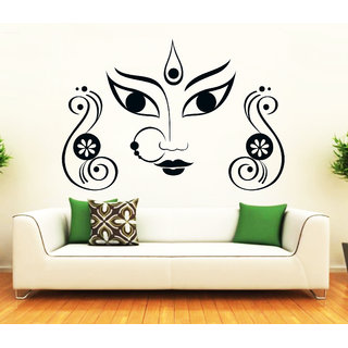 Maa Durga Face Large Wall Sticker