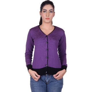 Ogarti 9004 Plain Purple Cardigans