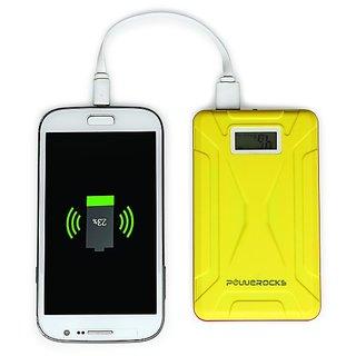 Powerocks MACH 100 10000 mAh Power Bank Charger With Display (Orange-Yellow)