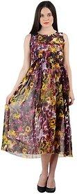 Womens peacock Printed Maxi Dress