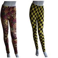 Tara Lifestyle Printed Ankle lenght Legging for Women- 2pcs combo-1006