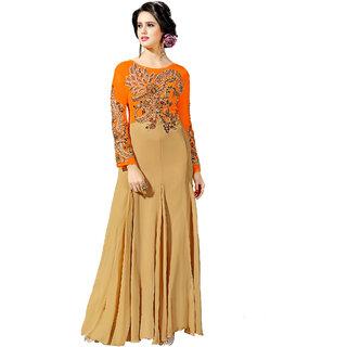 4954f5fd1f7d3 Buy Georgette Orange Anarkali Gown Online   ₹2099 from ShopClues