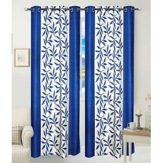 Attractivehomes solid polyester door curtain set of 2