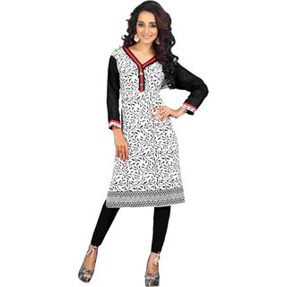 Triveni Classy Off White Colored Casual wear Cotton Kurti