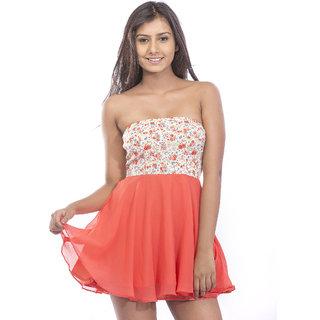 ae7840fc22 Buy Pinwheel Corel Georgette Tube Dress Online - Get 30% Off