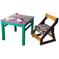 Solid wood Kids Chair and Study Table  multicolored  fr
