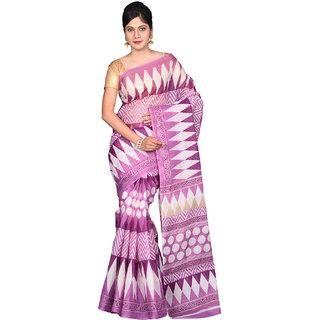 Glamorous Lady Printed Mangalgiri Polycotton Saree (GL0043)