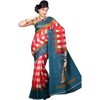 Glamorous Lady Fancy Bhagalpuri Printed Saree (GL0098)