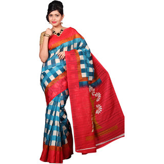 Glamorous Lady Fancy Bhagalpuri Printed Saree (GL0100)