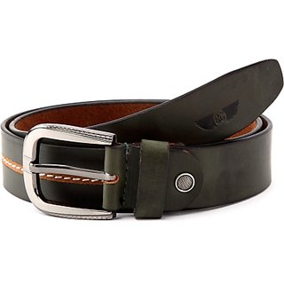 Royster Callus Men Casual Green Genuine Leather Belt (Green)